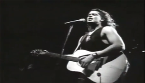 "La Gota Fría - An image of Carlos Vives in the music video for ""La Gota Fría""."