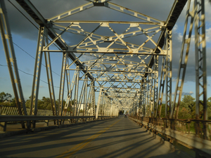 Ontario Highway 3 - The five-span bridge in Cayuga in 2010; opened in 1924, demolished in 2014 and replaced by a concrete structure