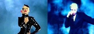 Not Myself Tonight - Image: Christina Aguilera Not Myself Tonight vs. Madonna Express Yourself