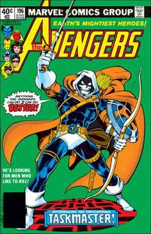 Taskmaster (comics) - Image: Cover of Avengers 196