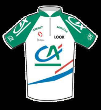 Crédit Agricole (cycling team) - Image: Crédit Agricole Jersey 2007 Tour de France