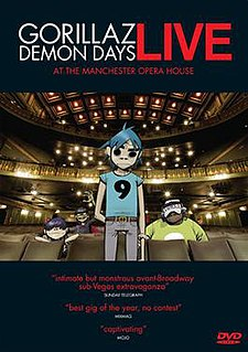 <i>Demon Days Live</i> (film) 2006 video by Gorillaz