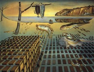 <i>The Disintegration of the Persistence of Memory</i> painting by the Spanish surrealist Salvador Dalí