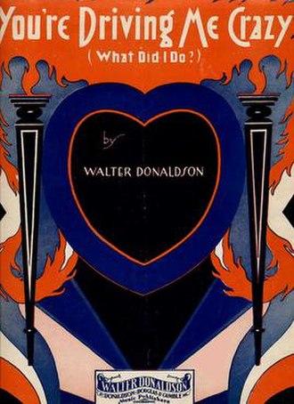 You're Driving Me Crazy - Original 1930 Sheet Music for You're Driving Me Crazy