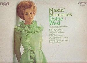 Makin' Memories (album) - Image: Dottie West Makin' Memories