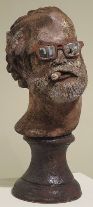 Robert Arneson - Doyen by Robert Arneson, 1972, glazed ceramic, Honolulu Museum of Art