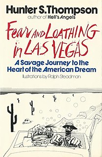 <i>Fear and Loathing in Las Vegas</i> 1971 novel by Hunter S. Thompson