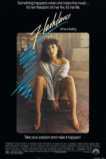 <i>Flashdance</i> 1983 film directed by Adrian Lyne