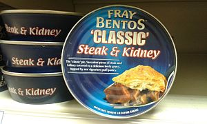 Fray Bentos (food brand) - Fray Bentos steak and kidney pies, as currently sold in the UK.