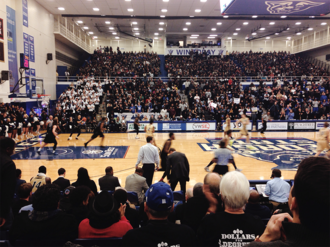 """Georgia State Panthers men's basketball - """"Black Out"""" game against Georgia Southern in the GSU Sports Arena on Jan. 19, 2016"""