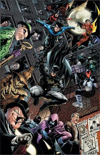 Gotham Underground - Cover art for the trade paperback of Gotham Underground. Art by Jim Califiore.