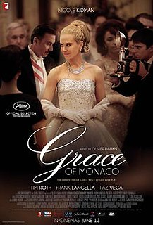 <i>Grace of Monaco</i> (film) 2014 French-American biographical drama film directed by Olivier Dahan