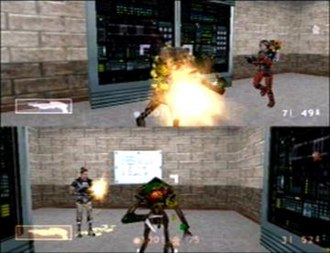 Half-Life: Decay - Decay is played in a split screen mode