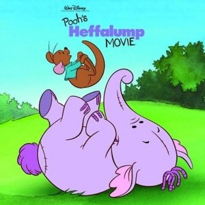 Heffalump - Lumpy the heffalump playing with Roo in a book that's based on Pooh's Heffalump Movie.