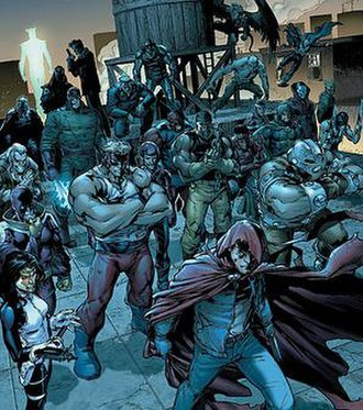 Hood (comics) - The Hood's crime syndicate. Art by Carlo Pagulayan.