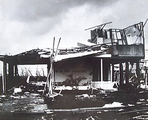Cyclone Tracy - House in Nakara, Northern suburbs, after Tracy
