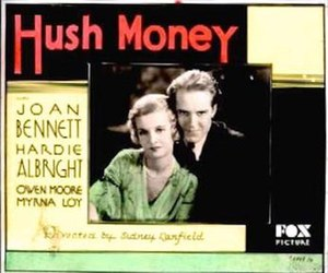 Hush Money (1931 film) - Theatrical release poster