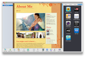 A screenshot of iWeb 3.0.1, part of iLife '09