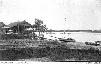 Lake Okabena - Idlewild Pavilion - Located on eastern shore of West Lake Okabena