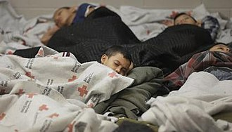 2014 American immigration crisis - Unaccompanied minors held by Immigration and Customs Enforcement