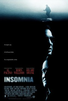 Insomnia 2002 USA Christopher Nolan Al Pacino Robin Williams Hilary Swank  Crime, Mystery, Thriller