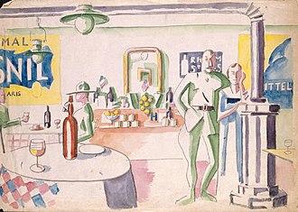 Jean Hugo - Image: Interieurdunbar 1917
