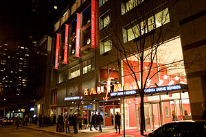 Exterior of Kaufman Center on West 67th Street...