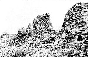 Las Flores Estancia - Las Flores' Capilla de San Pedro in ruins, circa 1900.