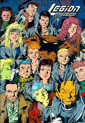 "Legion of Super-Heroes - The Legion ""five years later"" by Keith Giffen and Al Gordon"