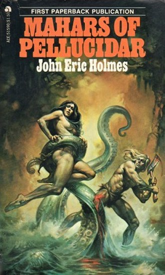 John Eric Holmes - Mahars of Pellucidar by John Eric Holmes, Ace Books, 1976, cover art by Boris Vallejo.