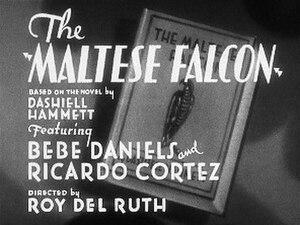 The Maltese Falcon (1931 film) - Title Card for the film.