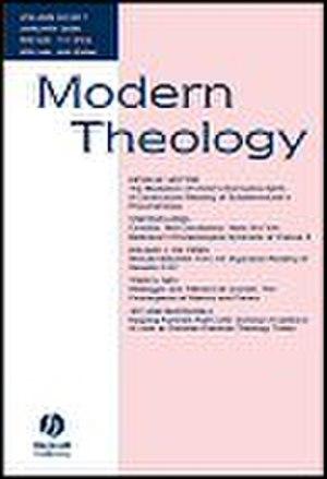 Modern Theology (journal) - Image: Modern Theology Journal Cover