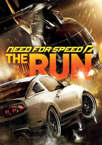 Need for Speed: The Run - Cover art with a Shelby GT500 Super Snake