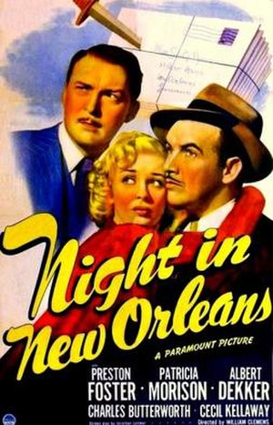 Night in New Orleans - Theatrical release poster