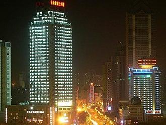 Tianshan District - Night view of buildings in Tianshan District