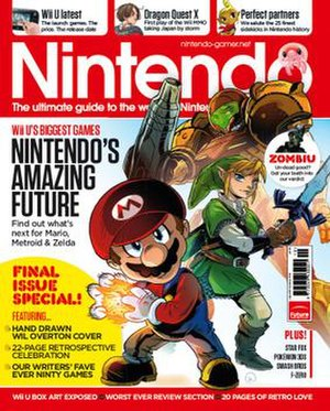 Nintendo Gamer - Issue 80 (October 2012) of Nintendo Gamer - the cover art is by Wil Overton and features Mario, Link and Samus Aran