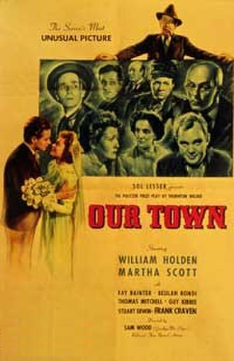 Our Town (1940 film) - Image: Original movie poster for the film Our Town (1940 film)