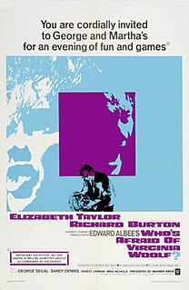 <i>Whos Afraid of Virginia Woolf?</i> (film) 1966 film by Mike Nichols
