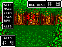 A gameplay image from Phantasy Star