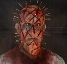 Pinhead's unused design from the cancelled Hellraiser reboot, complete with chaotic cuts.