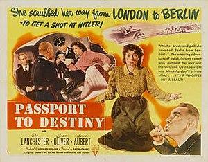 Passport to Destiny - Original film lobby card