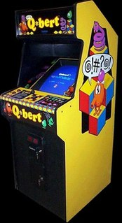 <i>Q*bert</i> Action puzzle arcade game first released in 1982