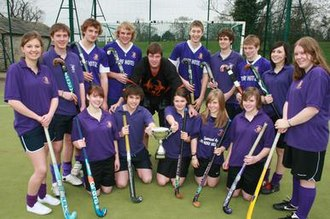Richmond School - The Richmond Sixth Form Mixed Hockey Team after winning the National Sixth Form Hockey Championships in 2008