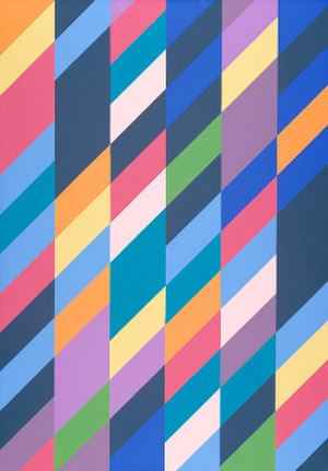 Bridget Riley - Shadow Play, 1990, oil on canvas