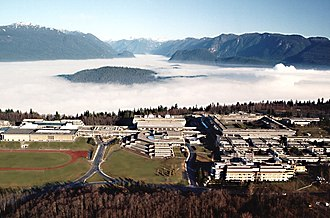 Simon Fraser University - Aerial view of the Burnaby Mountain Campus