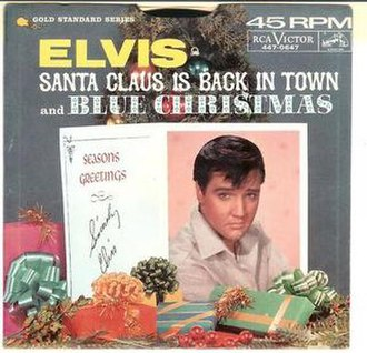 Santa Claus Is Back in Town - Image: Santa Claus is Back 45 single RCA