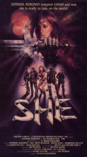 She (1982 film) - Image: She Film Poster