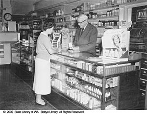 Frank Gibson (politician) - Sir Frank Gibson, in his store May 1953
