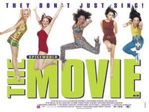 The promotional poster for the film Spiceworld.