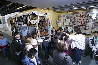 The California Museum - Students visiting one of the Museum's exhibits